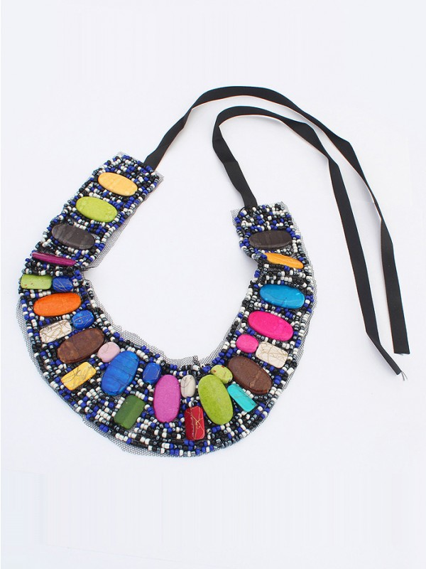 Occident Bohemia Ethnic customs Necklace - A