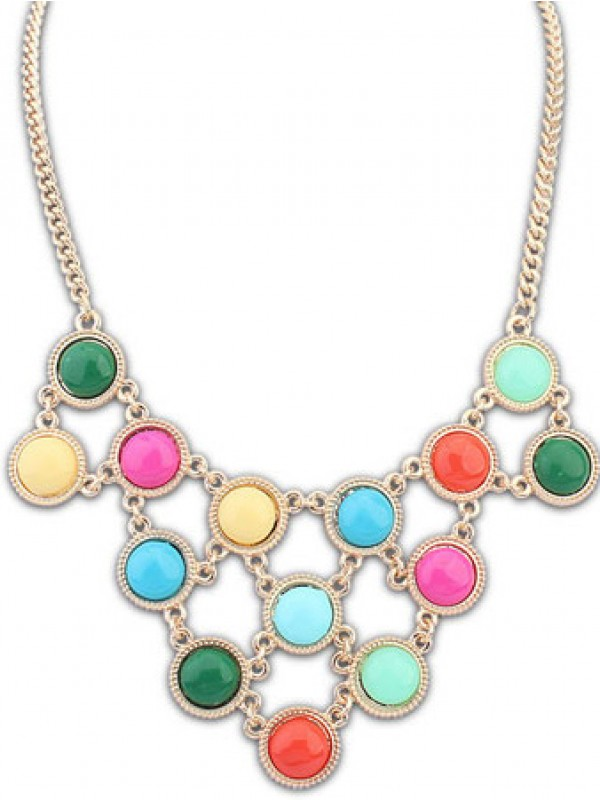 Occident Candy colors Sweet multi-layered Necklace