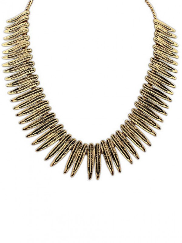 Occident Hyperbolic Punk Personality Metallic Necklace