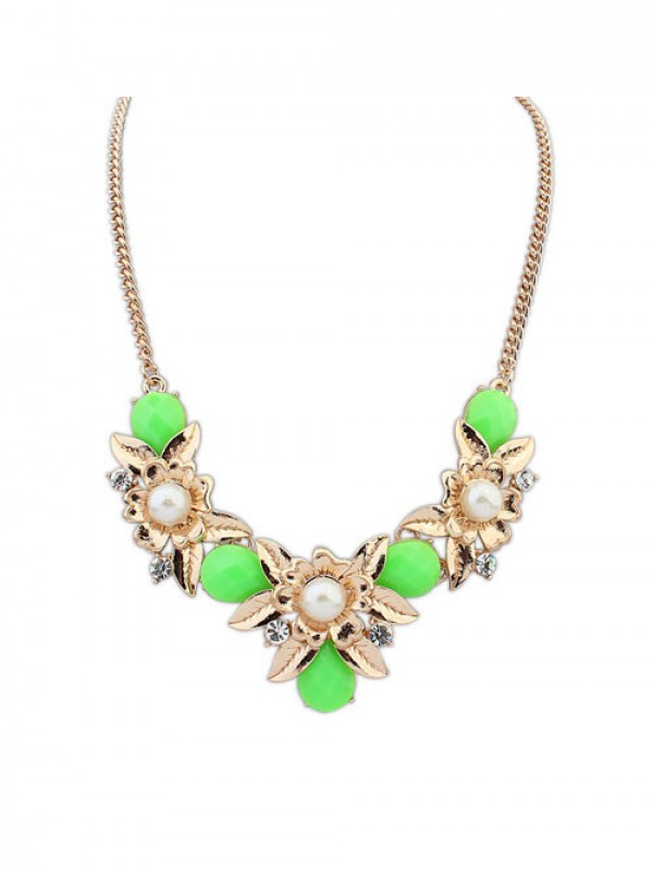 Occident Bohemia Geometry Flowers Necklace
