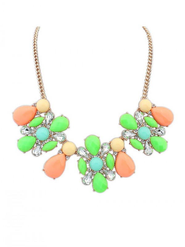 Occident Street shooting Collision color Exquisite Simple Necklace