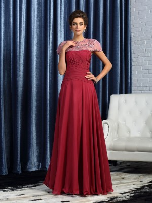 A-Line/Princess Sweetheart Chiffon Sleeveless Ruched Floor-Length Mother of the Bride Gowns