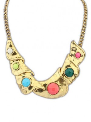 Occident Hyperbolic Personality Metallic Geometry Necklace