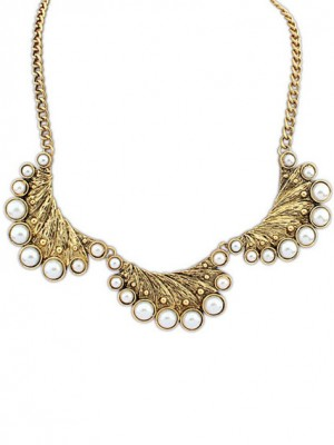 Occident Exotic Retro Peacock Pearls Necklace