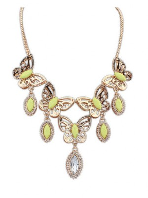 Occident Stylish Butterfly Tears Boutique Necklace