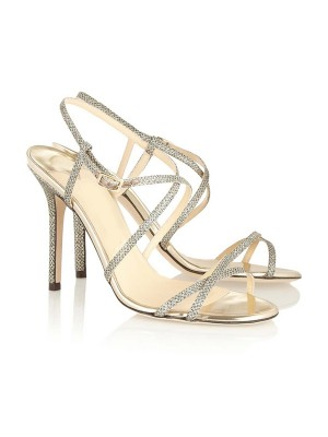 Women's Peep Toe Stiletto Heel With Buckle Sandal Shoes