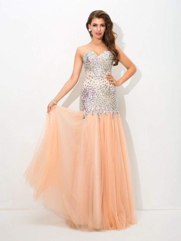 Trumpet/Mermaid Sweetheart Beading Net Dresses