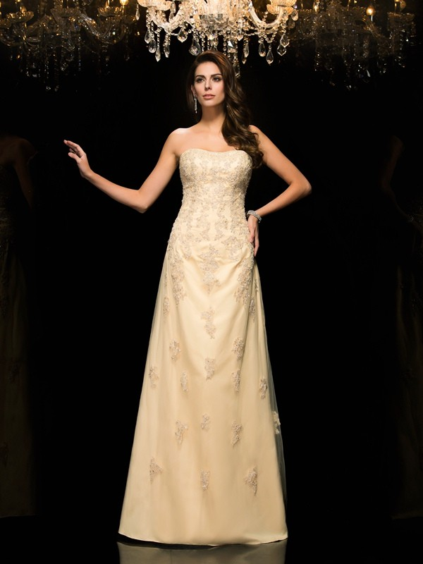 A-Line/Princess Sweetheart Sleeveless Floor-Length Net Mother of the Bride Dresses