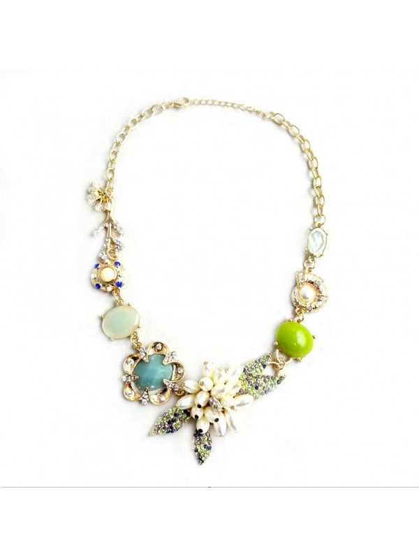 Occident Through Time and Space Exotic Immortal Gas Necklace