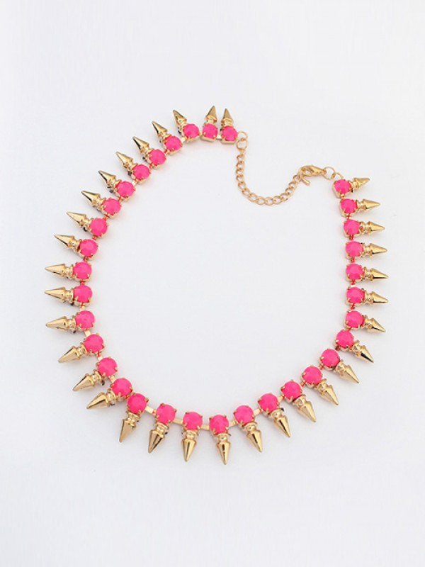 Occident Hyperbolic Conical Punk Simple Necklace