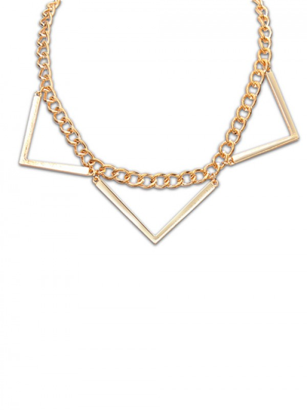 Occident Hyperbolic Punk Triangle Geometry Necklace