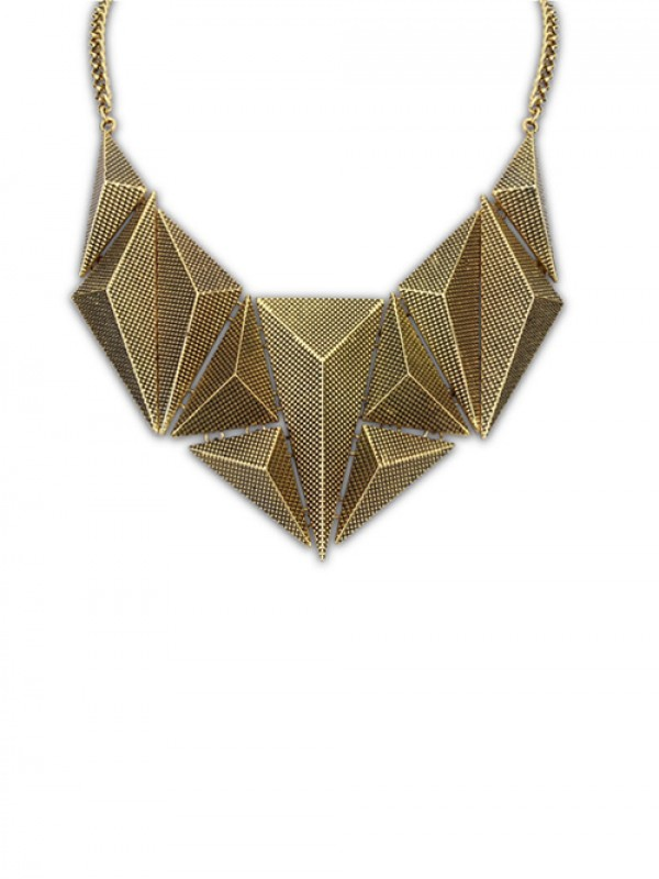 Occident Hyperbolic Metallic Dimensional Geometry Necklace