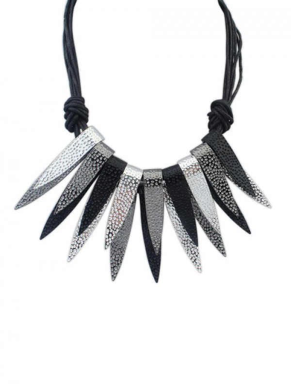 Occident Punk Personality Bunk Metallic Necklace