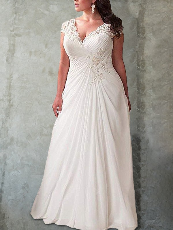 Sweep/Brush Train Empire Sweetheart Long Sleeves Chiffon Wedding Dresses