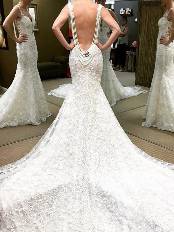 Ball Gown Short Off-the-Shoulder Sleeves Cathedral Train Lace Wedding Dresses